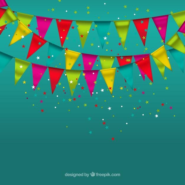 Guirnaldas de fiesta descargar vectores gratis - Guirnaldas para fiestas infantiles ...