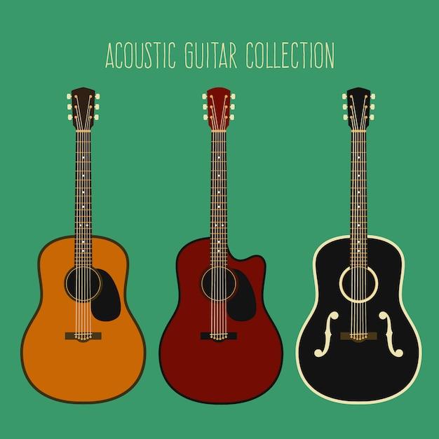 Guitarra acustica | Descargar Vectores Premium