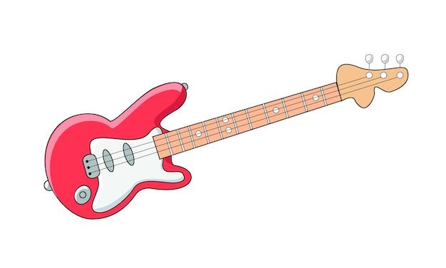 Guitarra Eléctrica Roja Descargar Vectores Premium