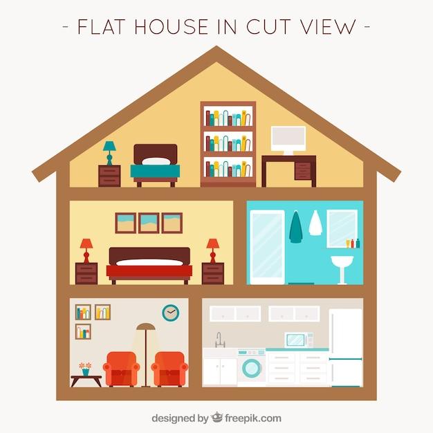 Habitaciones con muebles en dise o plano descargar for Programa diseno habitaciones gratis
