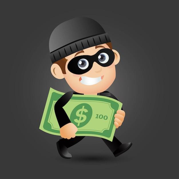 Hacker y ladrón Vector Premium
