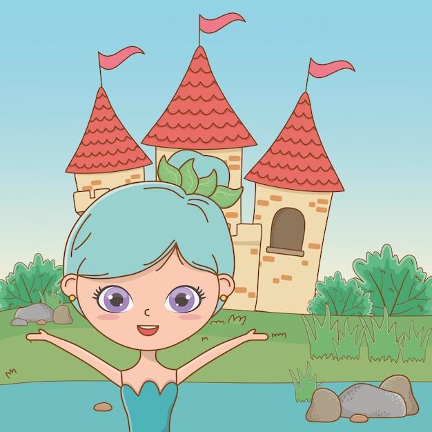 Hada de dibujos animados de cuento de hadas vector gratuito