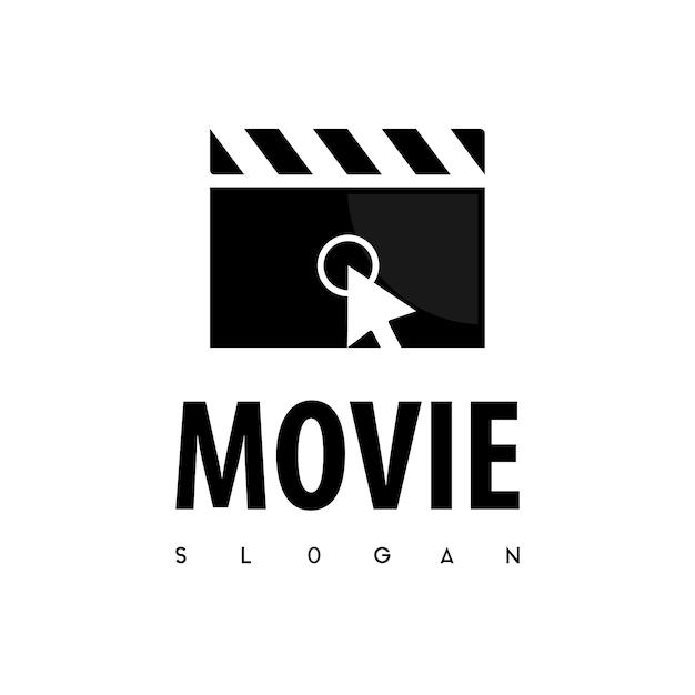 Haga clic en la película logo vector Vector Premium