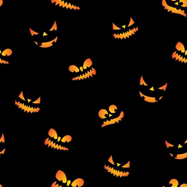 Halloween ilustraci n de patr n transparente con calabazas - Calabazas de halloween de miedo ...