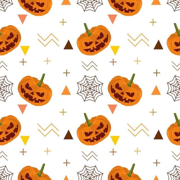 Halloween sonrisa calabaza espeluznante de patrones sin fisuras ...