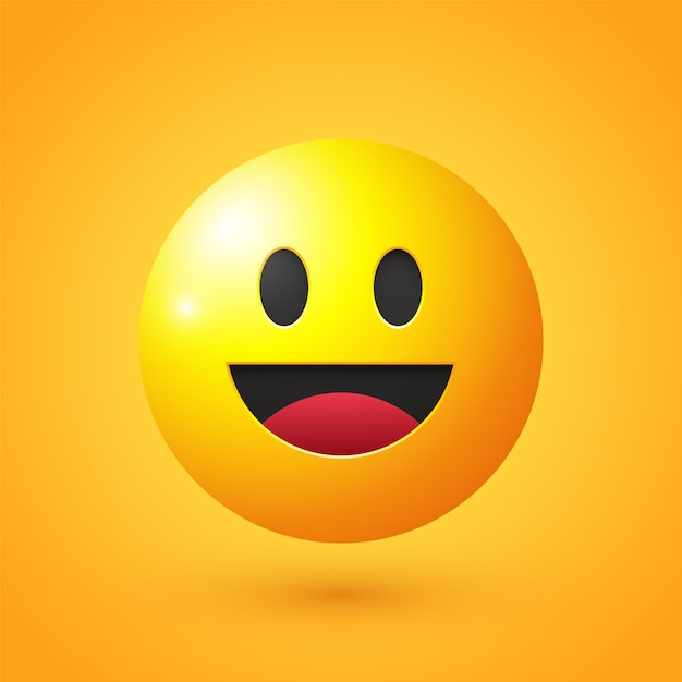 Happy face emoji | Vector Premium