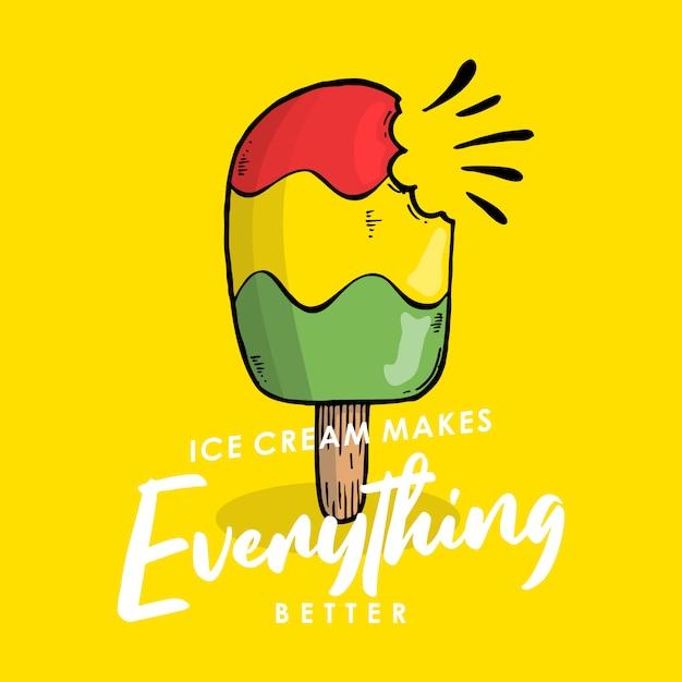 El helado hace que todo sea mejor. Vector Premium