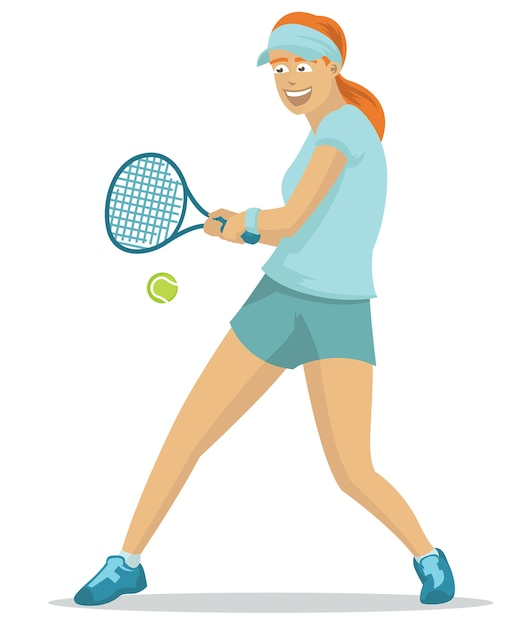 7895a0d133 Hermosa chica jugando tenis