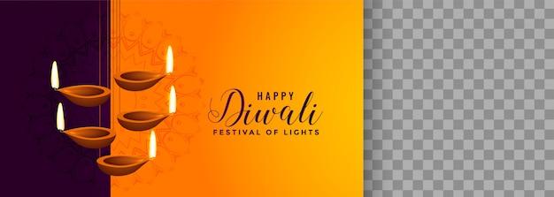 Hermosa lámpara colgante diya para el festival de diwali vector gratuito
