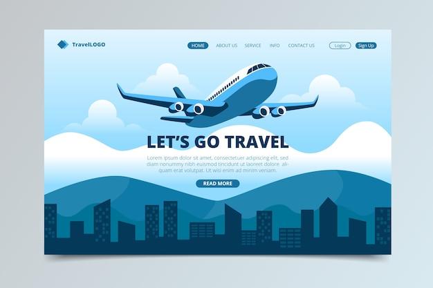 Hermosa página de inicio de viaje vector gratuito