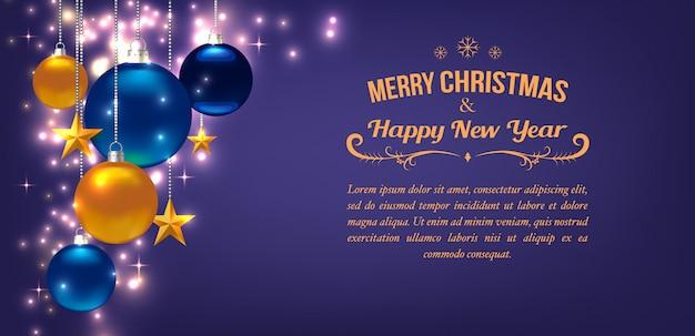 Hermosa Plantilla Para Tarjeta De Navidad O Año Nuevo