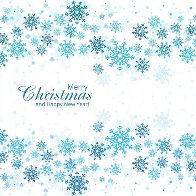Hermosa tarjeta de navidad copo de nieve vector gratuito