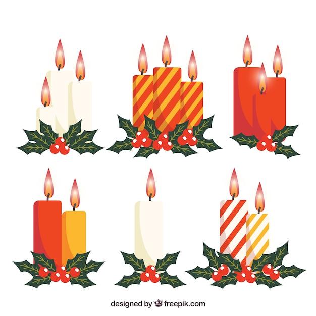Hermosas velas navide as descargar vectores gratis for Velas navidenas