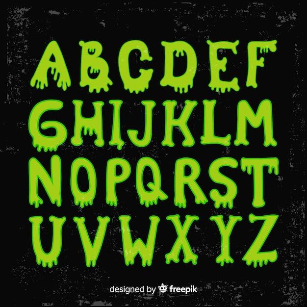 Hermoso alfabeto de halloween vector gratuito
