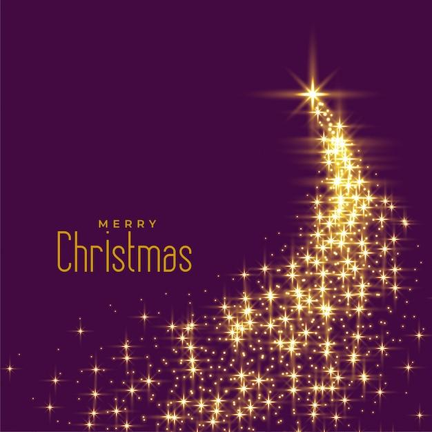 Hermoso árbol de navidad hecho con destellos. vector gratuito