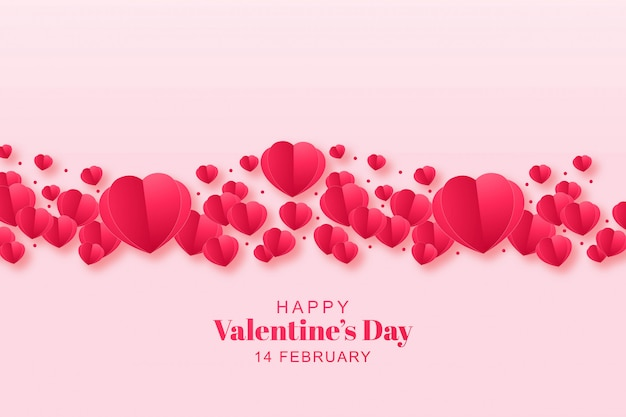 Hermoso corazón decorativo con diseño de tarjeta de felicitación vector gratuito
