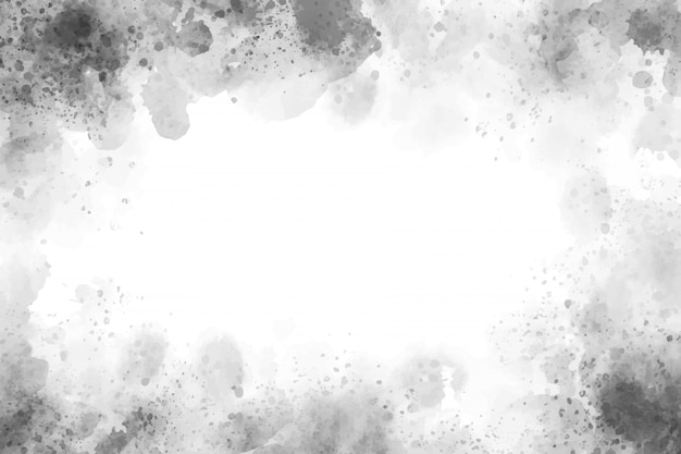 Hermoso fondo de grunge con textura de salpicaduras de acuarela gris Vector Premium