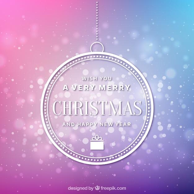 Hermoso fondo de navidad en el gradiente de color rosa y lila vector gratuito