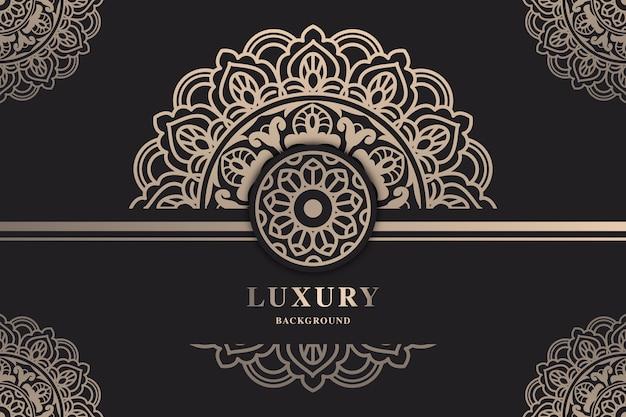 Hermoso fondo de pantalla de mandala de lujo Vector Premium