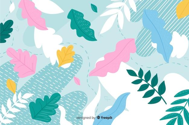 Hermoso fondo de un resumen floral dibujado a mano vector gratuito