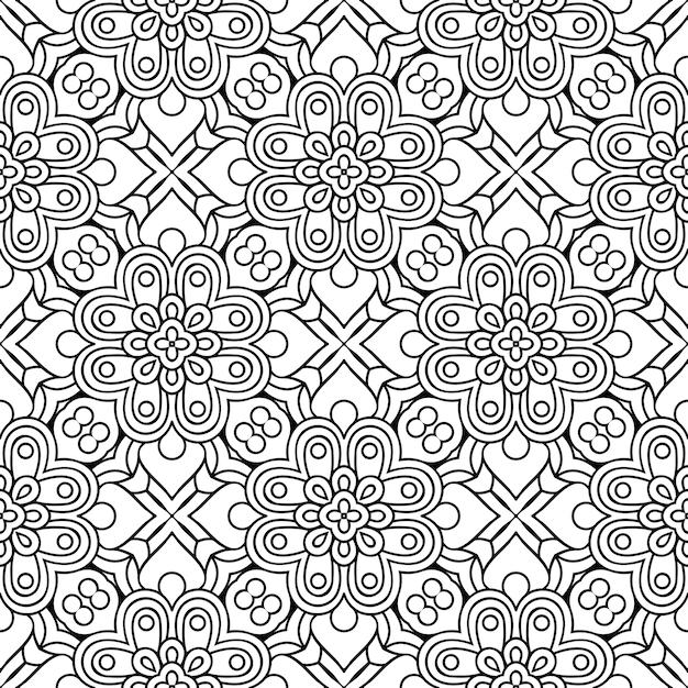 Hermoso patrón inconsútil tradicional indio Vector Premium