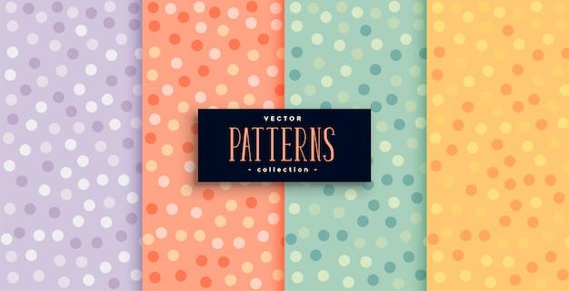 Hermosos patrones de círculos en muchos colores. vector gratuito