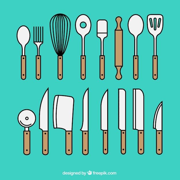 Herramientas de cocina descargar vectores gratis for Herramientas de cocina