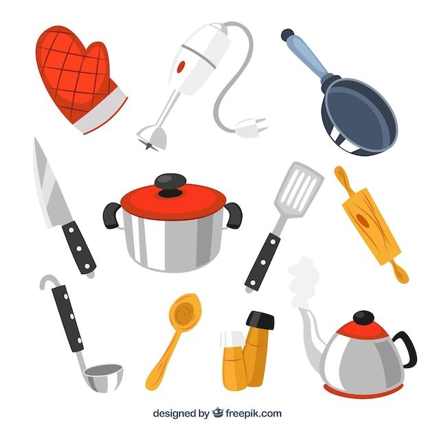 herramientas de cocina descargar vectores gratis