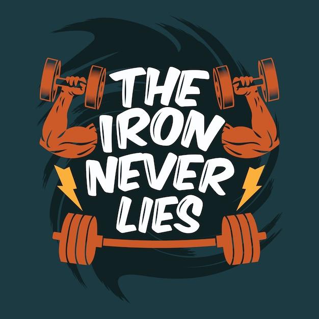 El hierro nunca miente de fondo Vector Premium