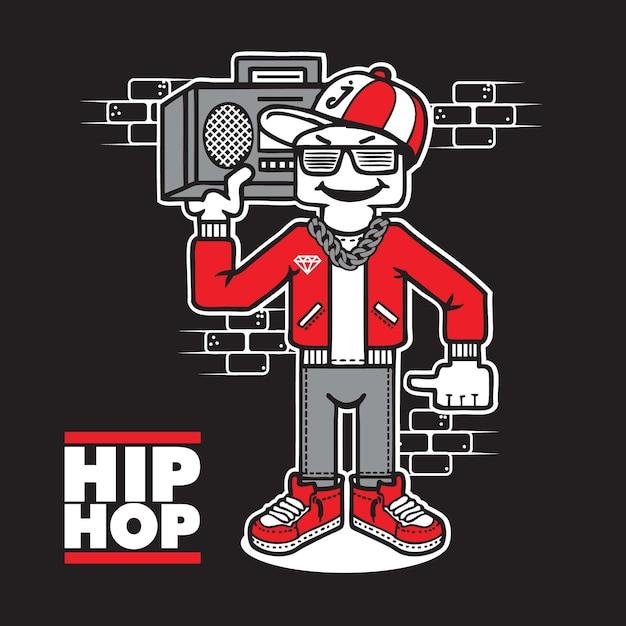 Hip hop boyz | Descargar Vectores Premium