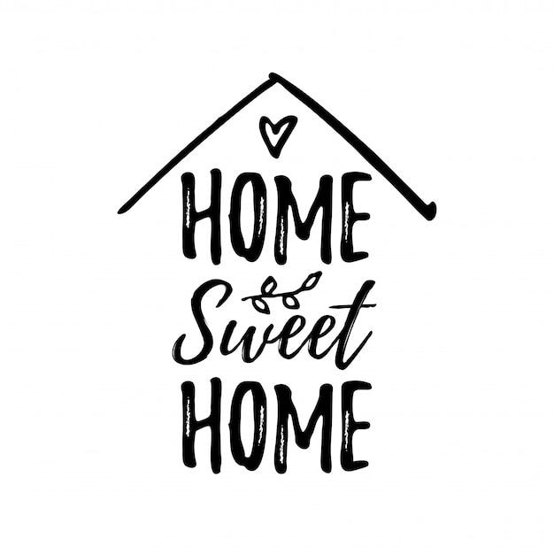 Hogar dulce hogar Vector Premium