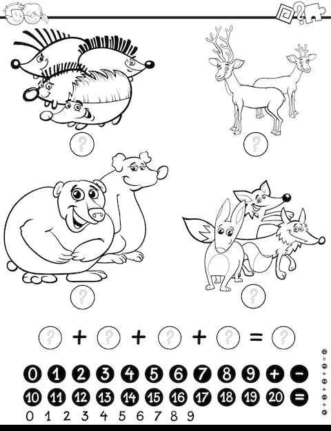 Hoja de cálculo de matemáticas para colorear | Descargar Vectores ...