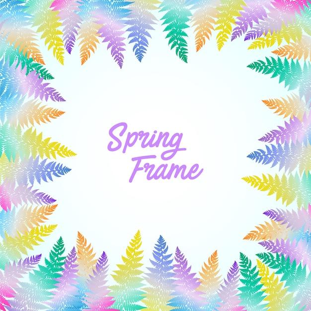 Hoja de colorfull marco de primavera y boda con estilo de acuarela ...