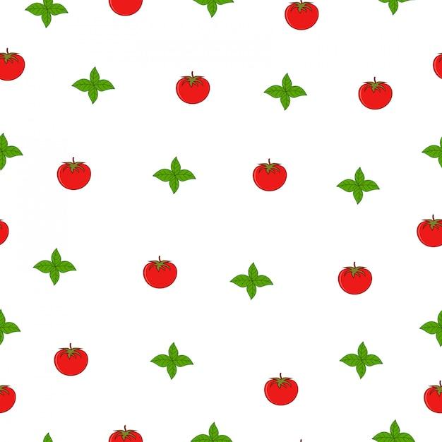 Hoja de menta tomate mercado de verano de patrones sin fisuras ...