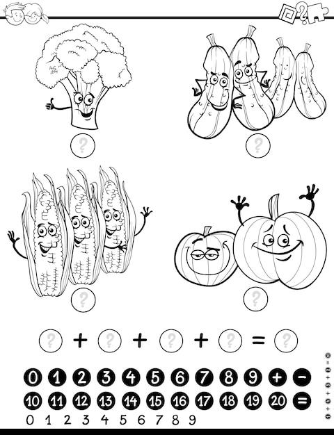 Hoja de trabajo de actividad matemática para colorear | Descargar ...