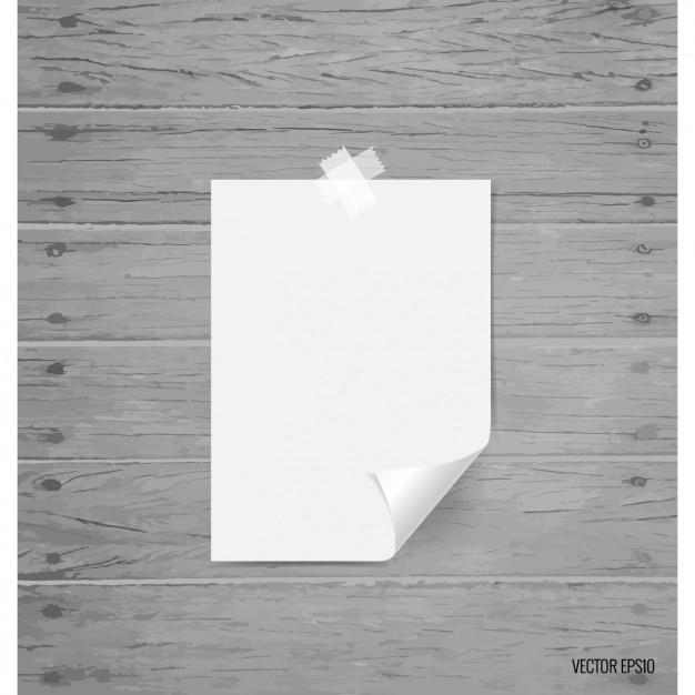 Hoja de papel en blanco vector gratuito
