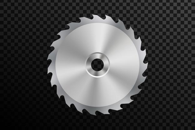 Hoja de sierra circular, trabajo de metal, chispa de fuego de soldadura Vector Premium