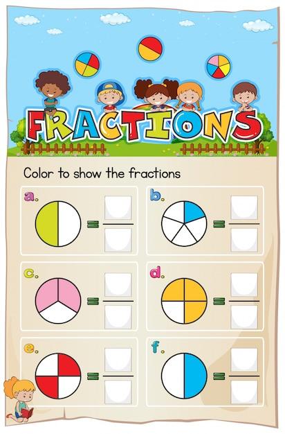 Hoja de trabajo de matemática capítulo de fracciones con cuadro ...