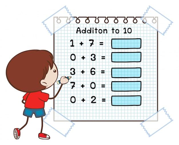 Hoja de trabajo de matemáticas para sumar a diez | Descargar ...