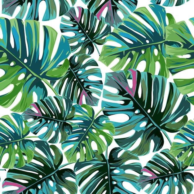 Hojas de palma tropical Vector Premium