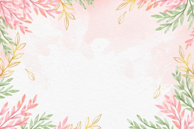 Hojas de papel tapiz con papel metálico vector gratuito