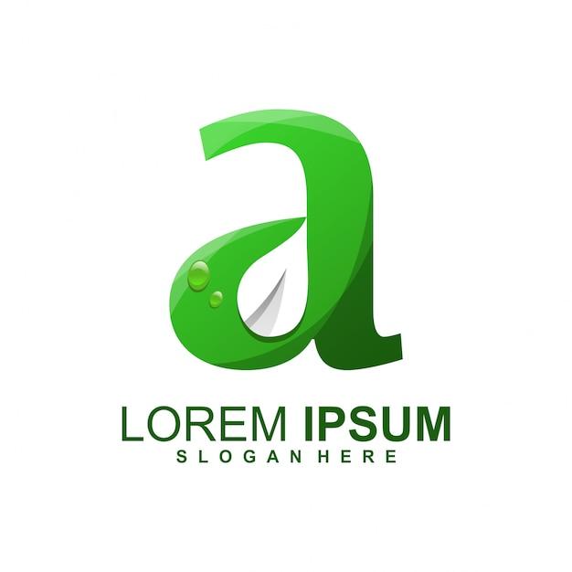 Hojear un logotipo Vector Premium
