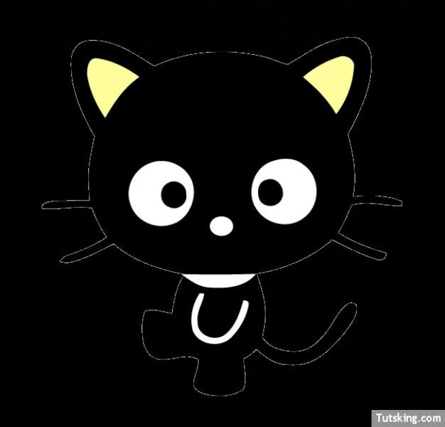 Hola gatito lindo gato negro   Descargar Vectores gratis