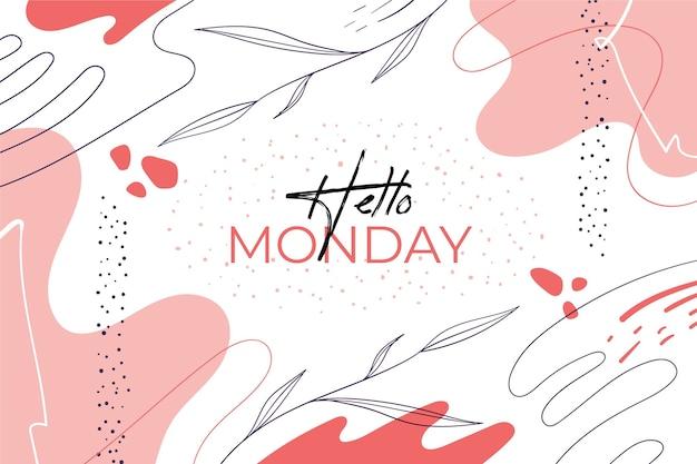 Hola lunes fondo abstracto Vector Premium
