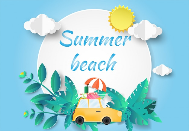 Hola summer beach party. Vector Premium