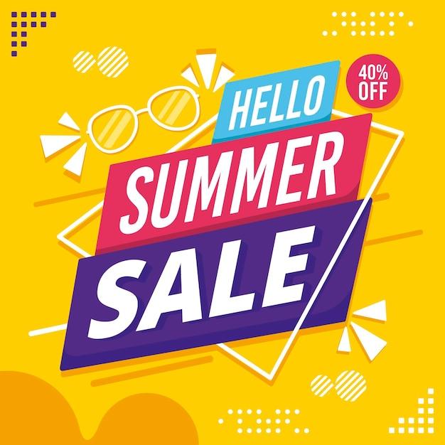 Hola venta de verano Vector Premium