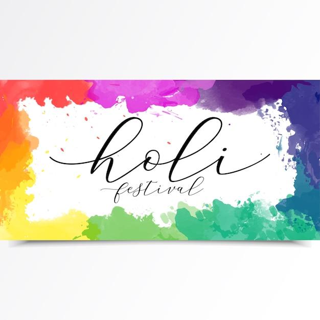 Holi festival banner Vector Premium