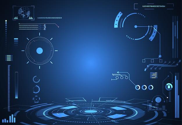 Holograma de interfaz de concepto futurista tecnología futurista Vector Premium