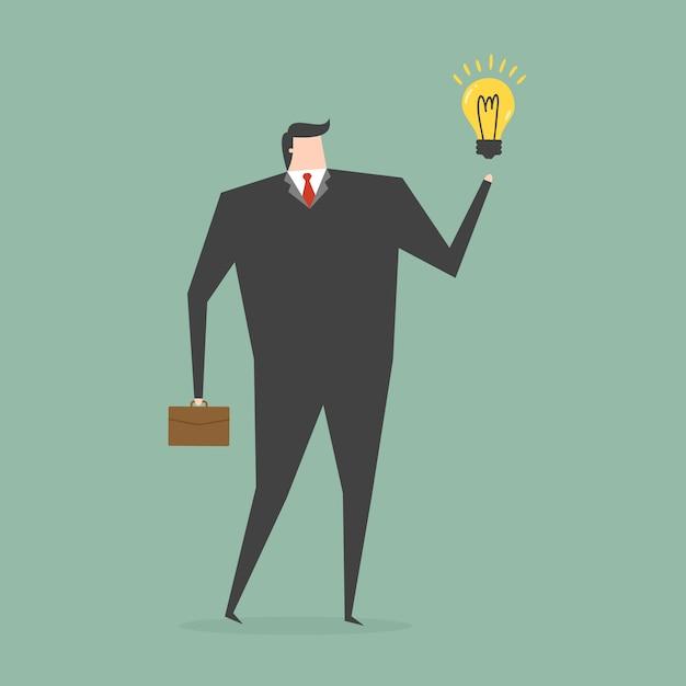 Hombre de negocios teniendo una idea Vector Gratis