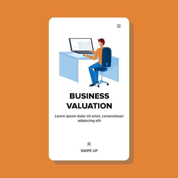 Hombre empleado del servicio de valoración empresarial Vector Premium